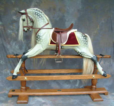 dappled rocking horse